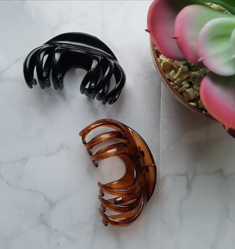black and brown hair clips