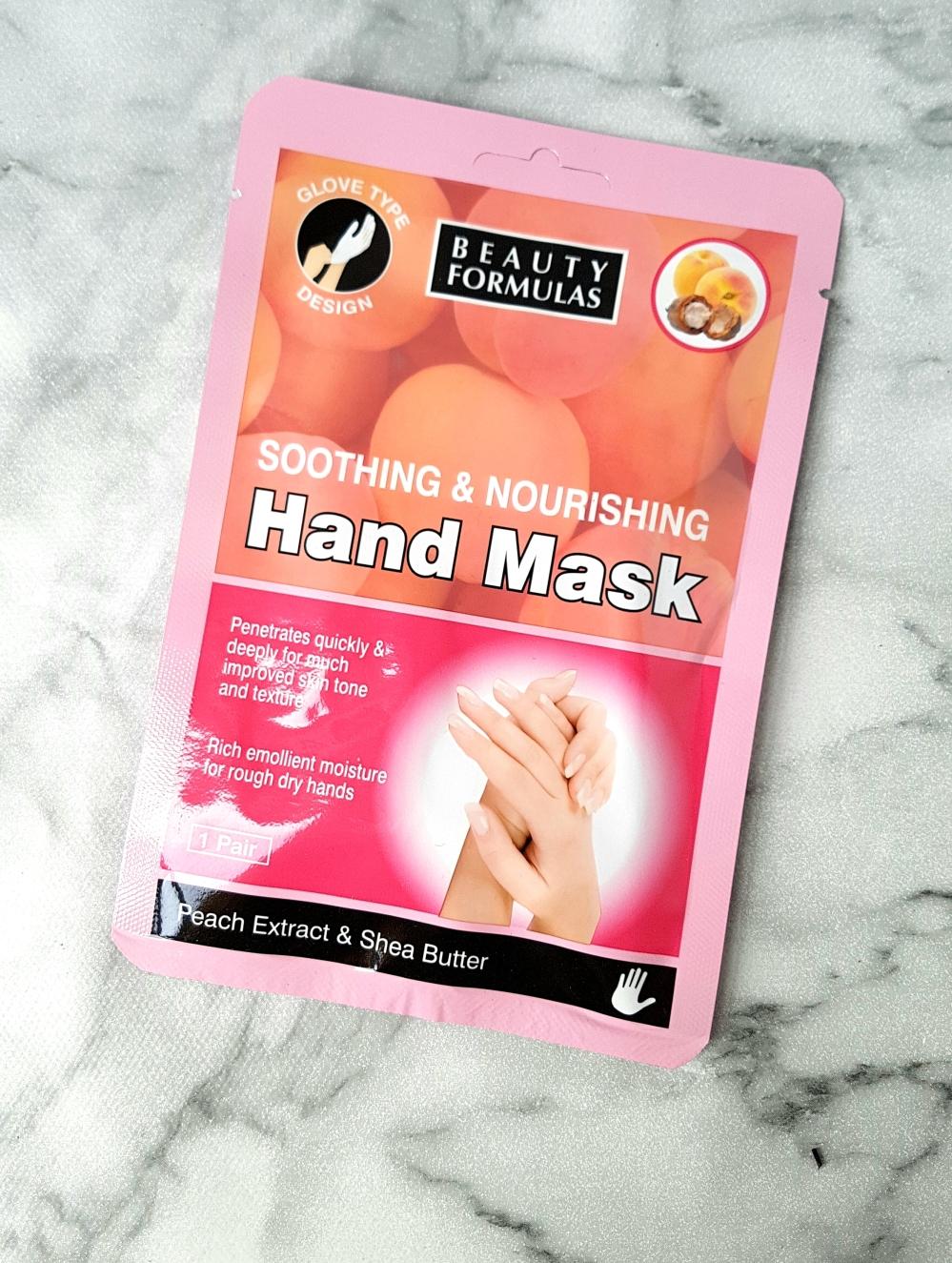 peach hand mask