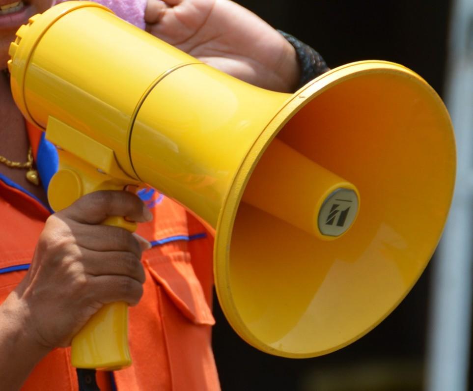 Voice being heard