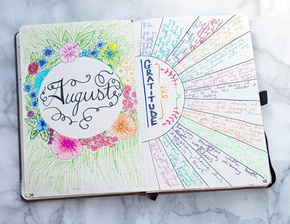 bullet journal gratititude